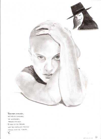 Hugo Weaving, Natalie Portman por jojolein